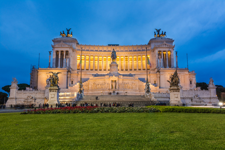 Vittorio Emanuele monument  Tomb of unknown soldier  in the city of Rome in Italy  photo