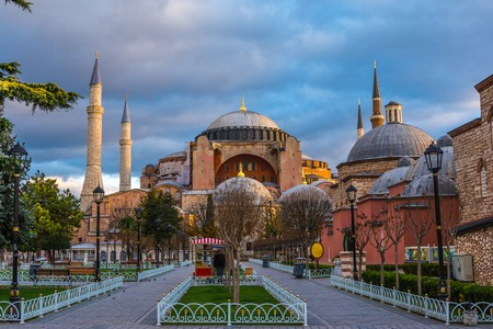 Hagia Sofia church in Istanbul, Constantinople, Turkey Stock Photo