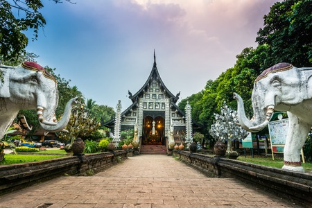 Wat Lok Moli is a Buddhist temple in Chiang Mai, Thailand  The temple is situated on the north side of moat, surrounding the old part of the city, about 400 meters west of the Chang Phuak city gate  photo