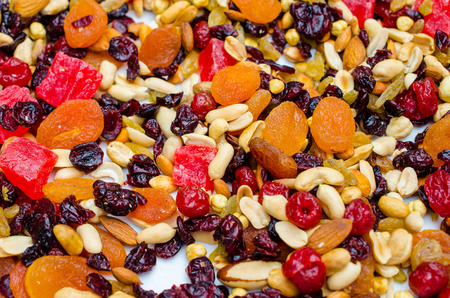 Different dried fruits pattern, used as a background photo