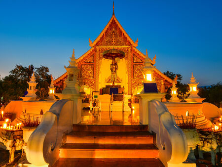 Wat Phra Singh is located in the western part of the old city center of Chiang Mai,Thailand photo