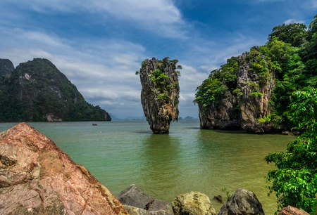 James Bond Island from Phang Nga Bay,Thailand photo