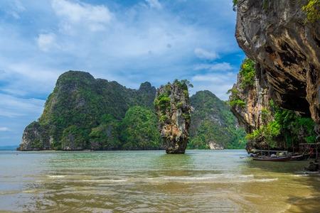 Island from Phang Nga Bay,Thailand photo