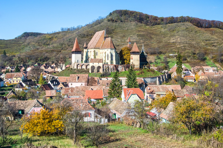 fortified: Biertan is one of the most important Saxon villages with fortified churches in Transylvania  It was the seet of the Lutheran Evangelical Bishop in Transylvania between 1572 and 1867  Stock Photo