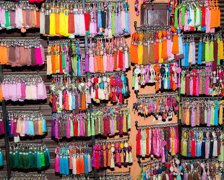 Colorfull tassels from Marackesh, Marocco bazar for textiles decoration