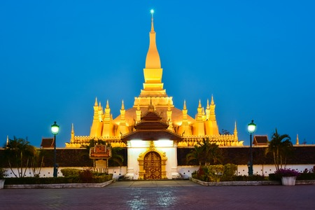 Pha That Luang, Great Stupa in Vientine, Laos photo