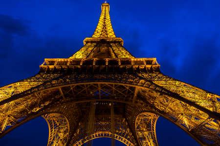 champs elysees quarter: Eiffel tower - night view