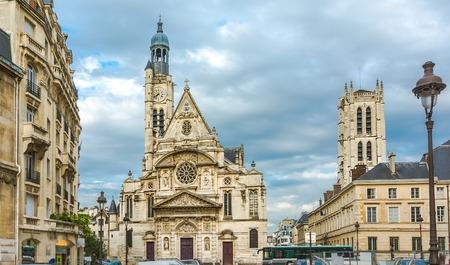 patron: Saint-Etienne-du-Mont is a church in Paris, France, located on the Montagne Sainte-Genevieve near the Pantheon  It contains the shrine of St  Genevieve, the patron saint of Paris