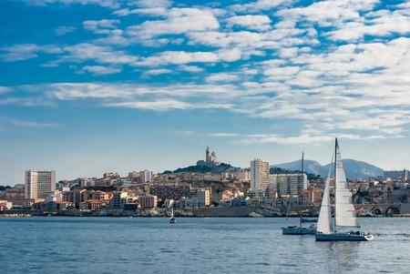 the count of monte cristo: Skyline view over Marseille