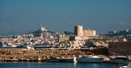 chateau d if: Skyline view over Marseille