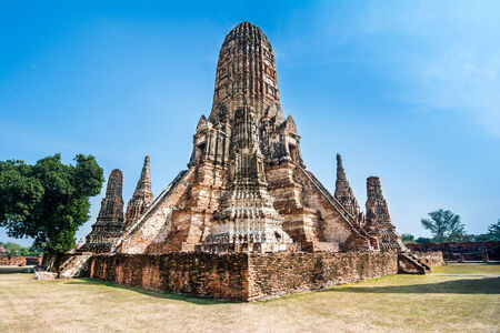 Wat Chaiwatthanaram is a Buddhist temple in the city of Ayutthaya, Thailand, on the west bank of the Chao Phraya River, outside Ayutthaya island  photo