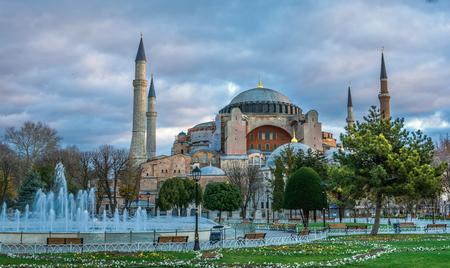 Hagia Sofia church in Istanbul, Constantinople, Turkey Reklamní fotografie - 32272285