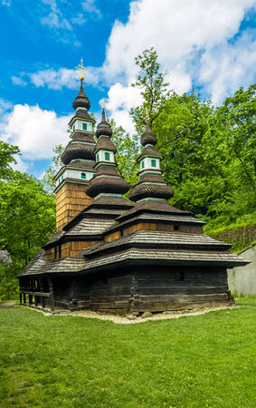 loophole: The wooden church consecrated to St. Michael is situated in the upper part of Kinskeho garden on Petrin Hill