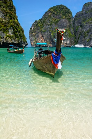 sheltered: Maya Bay is a stunningly beautiful bay thats sheltered by 100-metre high cliffs on three sides with several beaches with soft white sand, underwater colourful coral and exotic fish in clear water.