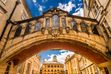 oxford street: Hertford Bridge, popularly known as the Bridge of Sighs, is a skyway joining two parts of Hertford College over New College Lane in Oxford, England. Its distinctive design makes it a city landmark