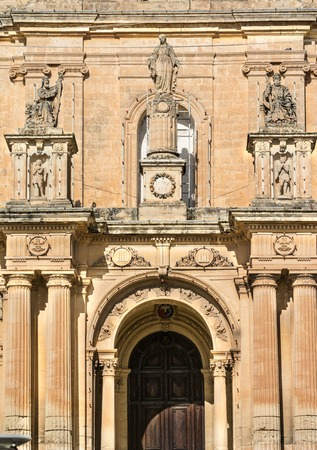 aisles: St.Nicholas of Bari Parish church, Siggiewi, was already a parish in 1436. The present church was built between 1675 and 1693. The side aisles, dome and portico were done in the later construction of 1862 when the church was enlarged