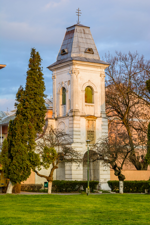 vestige: Tower - bell is the oldest vestige of Lugoj and belonged to the former St. Nicholas church - monastery, founded in the XIV-XV century Stock Photo