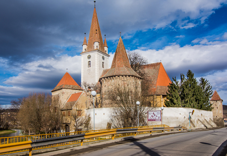 cristian: The fortified church of Cristian, Romania, near Sibiu. Southeastern Transylvania in Romania has one of the highest numbers of still-existing fortified churches, which were built during the 13th to 16th centuries