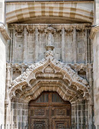 brasov: Black churchs gate,Brasov city, Romania  landmark architecture Stock Photo