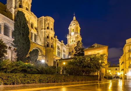 マラガの大聖堂は、1528 と 1782 年の間に構築ルネサンス教会です。マラガ、スペイン。