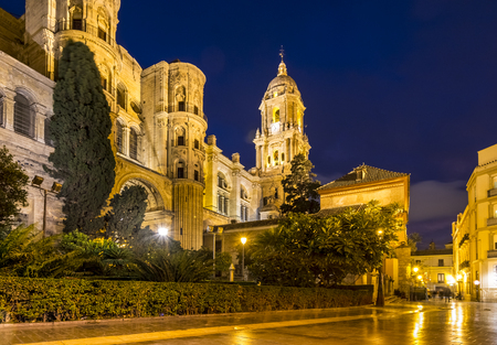 The Cathedral of Malaga is a renaissance church constructed between 1528 and 1782. Malaga, Spain.