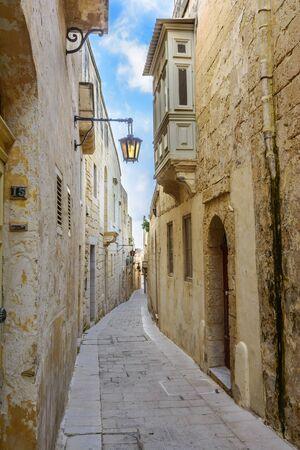 Narrow street of the old Mdina.