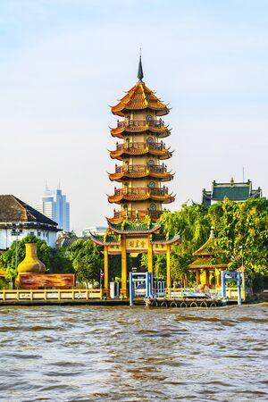 Chee Chin Khor pagoda, Praya river in Thonburi, Bangkok