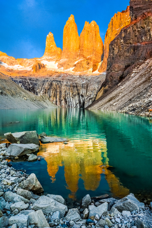 Torres del Paine National Park, Patagonia, Chile Imagens