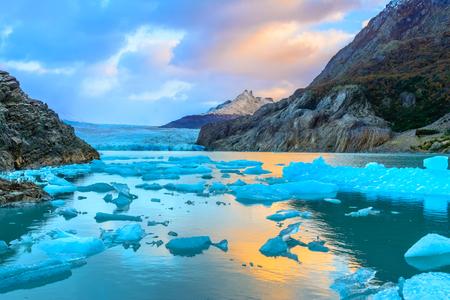 chilean: Grey Glacier,Patagonia, Chile -  a glacier in the Southern Patagonian Ice Field, Cordillera del Paine
