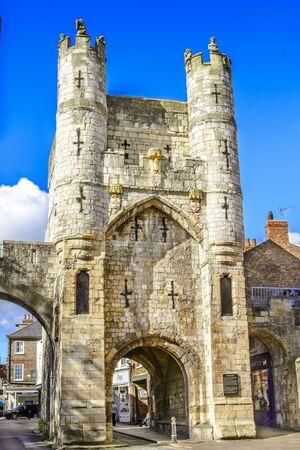 Monk bar,gate-tower in York, Yorshire, United Kingdom