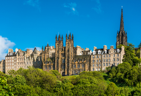 The Assembly Hall is in the neo-gothic building situated directly East of Edinburgh Castle. With twin turrets forking above the skyline it is clearly visible as you climb up the Mound.