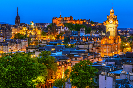 Overview of the Edinburgh city, Scotland