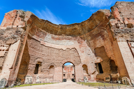 Terme di Caracalla or The Baths of Caracalla in Rome, Italy, were the city's second largest Roman public baths, or thermae Reklamní fotografie - 81354041
