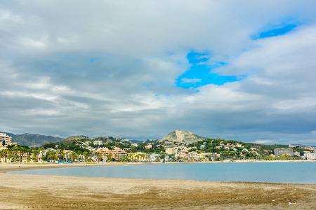 Malagueta Beach in Andalusia, Malaga Spain