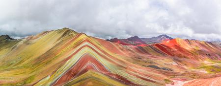 Vinicunca, Montana de Siete Colores or Rainbow Mountain, Pitumarca, Peru 스톡 콘텐츠