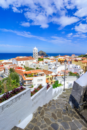 Garachico, Tenerife, Canary islands, Spain: Overview  of the colorful and beautiful town of Garachico.