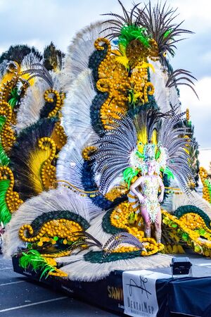 Santa Cruz de Tenerife, Spain, Canary Islands: February 13, 2018: Coso Apoteosis at Carnaval Santa Cruz de Tenerife - Grand Carnival Parade Redakční