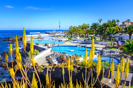 Puerto de la Cruz, Tenerife, Canary Islands, Spain: Beautifully saltwater pools Lago Martianez into a beautifull day