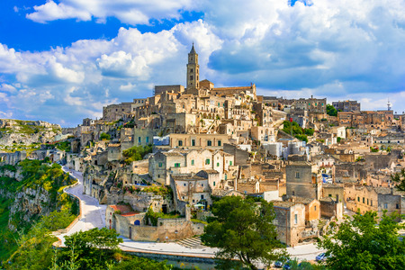 Matera, Basilicata, Italy: Landscape view of the old town - Sassi di Matera, European Capital of Culture, at dawn Reklamní fotografie - 103407579