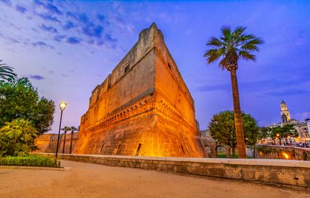 Bari, Italy, Puglia: Swabian castle or Castello Svevo, a medieval landmark of Apulia.