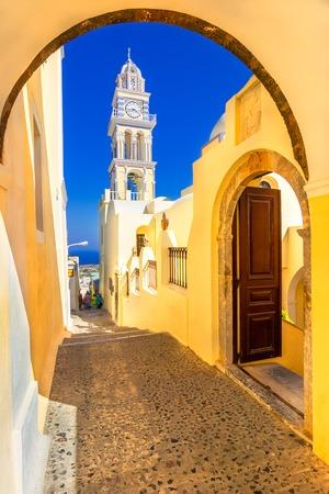 Fira, Santorini island, Greece: Cathedral Church of Saint John The Baptist, Europe Reklamní fotografie