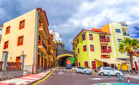 Candelaria,enerife, Spain: Street in Candelaria. Tenerife, Canary Islands in a beautiful afternoon