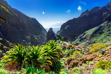 Masca, Tenerife, Spain, Canary Islands: Small mountain village Masca on the island of Tenerife in Canary Islands, the Macizo de Teno mountains Reklamní fotografie