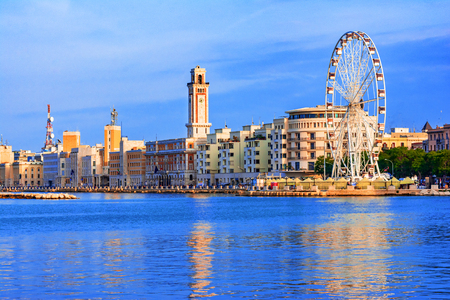 Bari, region of Apulia, Italy: Big ferris wheel on the waterfront of Bari