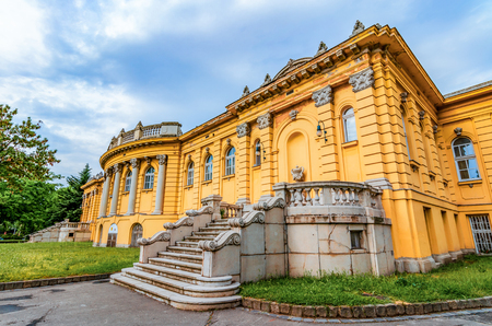 Budapest,Hungary: Szechenyi thermal Baths, spa and swimming pool in the Varosliget