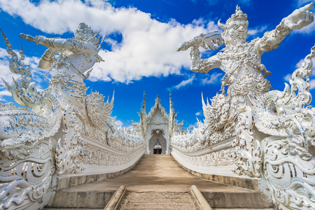 Chiang Rai, Thailand, Asia: Wat Rong Khun or White Temple, located in Chiang Rai northern Thailand an unconventional Buddhist temple.