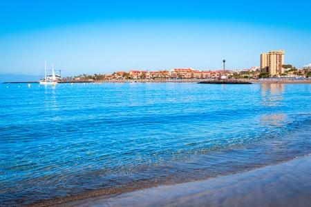 Playa de Las Vistas, Tenerife, Spagna: Bellissima spiaggia di Los Cristianos, Isole Canarie, Europe