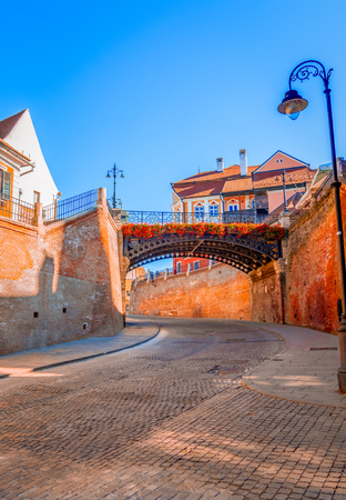 Sibiu, Romania: Liars Bridge in the Small Square,Transylvania Europe