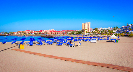 Playa de Las Vistas, Tenerife, Spain: Beautiful beach in Los Cristianos, Canary Island, Europe Reklamní fotografie