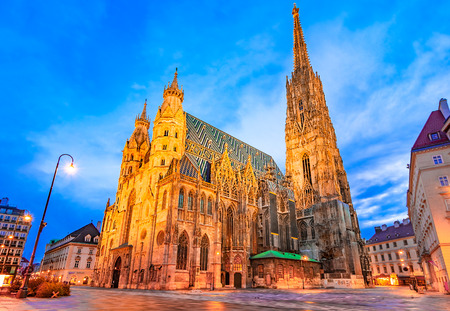 Vienna, Austria, Europe: St. Stephen's Cathedral or Stephansdom, Stephansplatz early in the morning. Reklamní fotografie